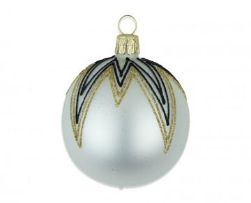 Vánoční koule perleťová, rampouchy