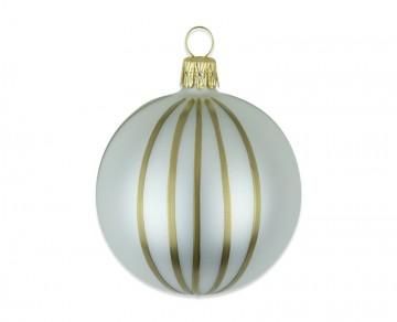 Vánoční koule perleťová, proužek