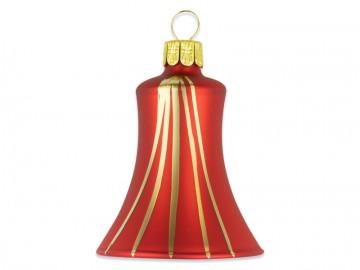 Vánoční zvonek červený, proužek