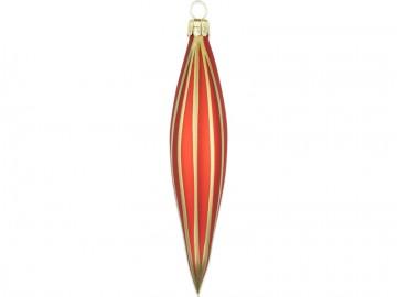 Vánoční raketa červená, proužek