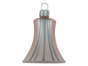 Vánoční zvonek pudrový, proužek