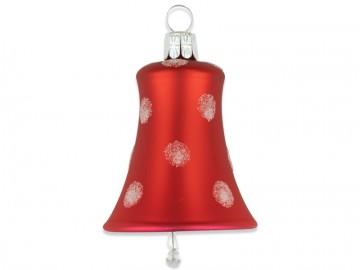 Vánoční zvonek červený, puntík