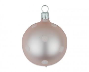 Vánoční koule pudrová, puntík