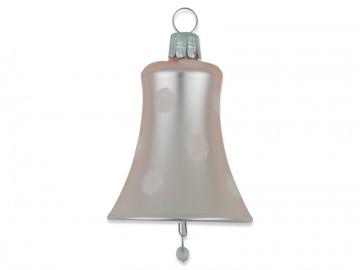 Vánoční zvonek pudrový, puntík
