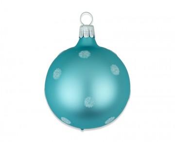 Vánoční koule tyrkysová, puntík