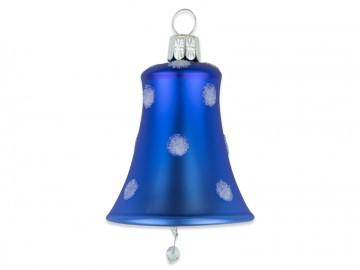 Vánoční zvonek modrý, puntík