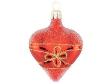 Vánoční srdce červené, květ