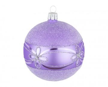 Vánoční koule fialová světlá, květ