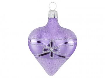 Vánoční srdce fialové světlé, květ