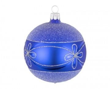 Vánoční koule modrá, květ