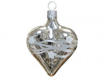 Vánoční srdce stříbrné, vlny
