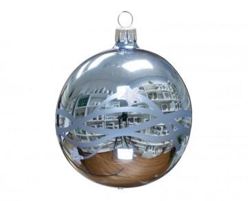 Vánoční koule bleděmodrá, vlny