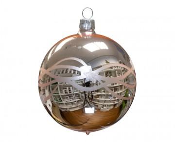 Vánoční koule pudrová, vlny