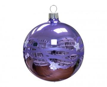 Vánoční koule fialová světlá, vlny