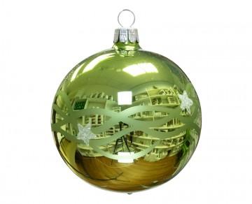 Vánoční koule olivová, vlny