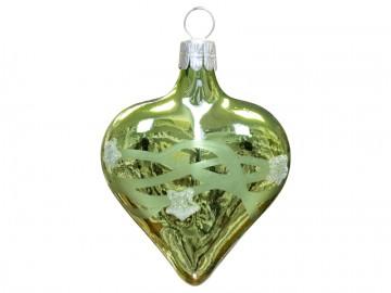 Vánoční srdce olivové, vlny