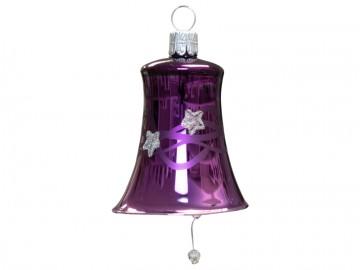 Vánoční zvonek fialový tmavý, vlny
