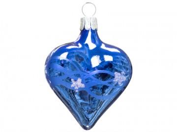 Vánoční srdce modré, vlny