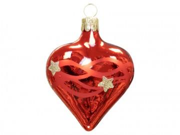Vánoční srdce červené, vlny