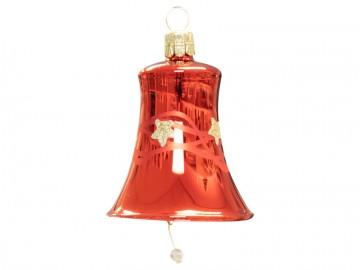 Vánoční zvonek červený, vlny