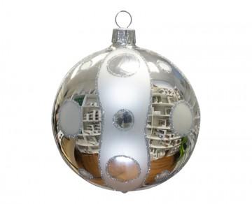 Vánoční koule stříbrná, kolečka