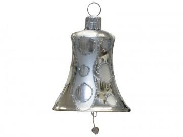 Vánoční zvonek stříbrný, kolečka