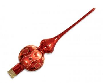 Vánoční špice červená, kolečka