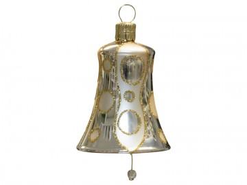 Vánoční zvonek šampáňo, kolečka