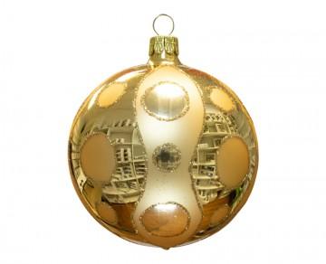 Vánoční koule zlatá světlá, kolečka
