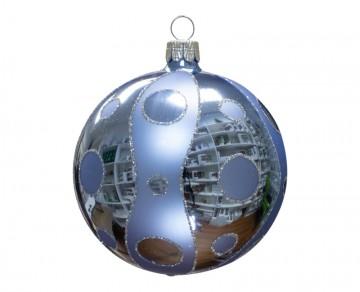 Vánoční koule bleděmodrá, kolečka