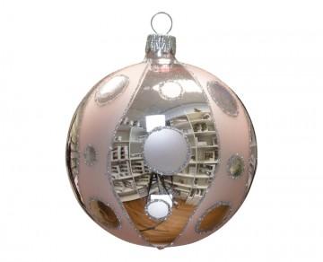 Vánoční koule pudrová, kolečka