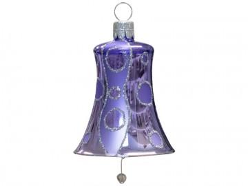 Vánoční zvonek fialový světlý, kolečka