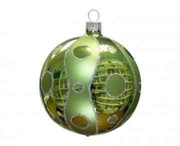 Vánoční koule olivová, kolečka