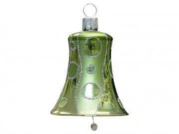 Vánoční zvonek olivový, kolečka