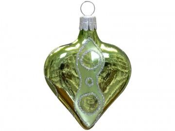 Vánoční srdce olivové, kolečka