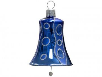 Vánoční zvonek modrý, kolečka
