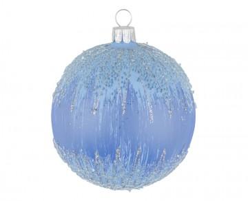 Vánoční koule bleděmodrá, mráz