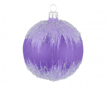 Vánoční koule fialová světlá, mráz