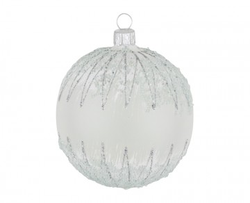 Vánoční koule perleťová, mráz