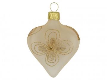 Vánoční srdce šampáňo, kytky