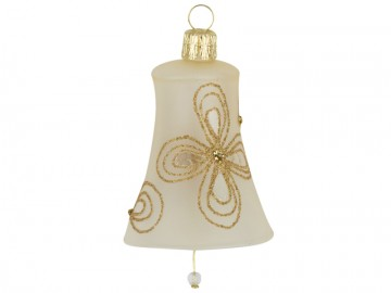 Vánoční zvonek šampáňo, kytky