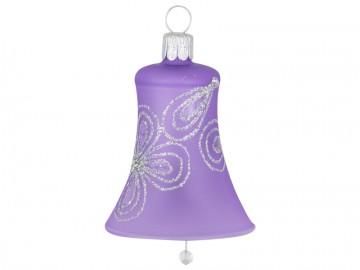 Vánoční zvonek fialový světlý, kytky