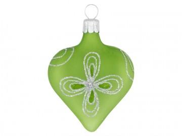Vánoční srdce olivové, kytky