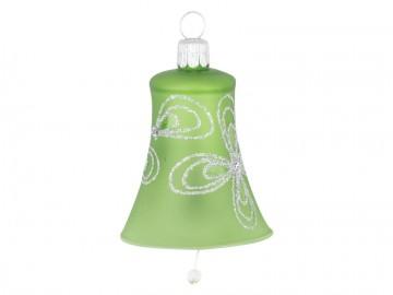 Vánoční zvonek olivový, kytky