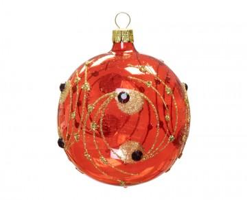 Vánoční koule červená, kola