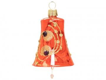 Vánoční zvonek červený, kola