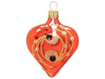 Vánoční srdce červené, kola