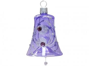 Vánoční zvonek fialový světlý, kola