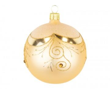 Vánoční koule zlatá tmavá, závěs