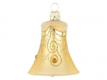Vánoční zvonek zlatý tmavý, závěs